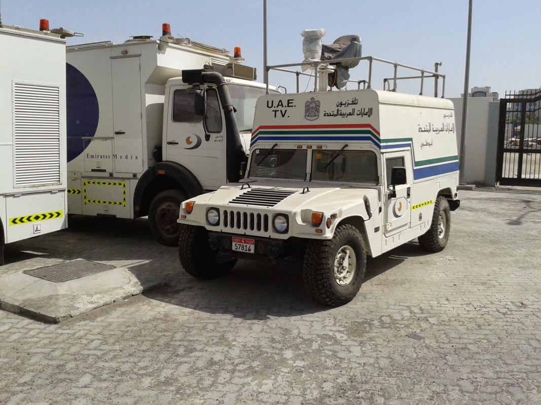 Mobiele camera wagen van de UAE TV.