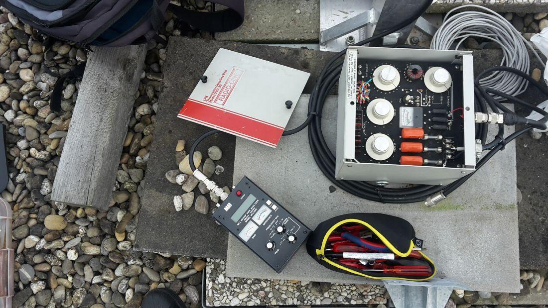 Antenne AM 1395 kHz inverted V afregelen.